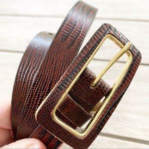 """OSCAR DE LA RENTA Leather 38"""" Belt"""